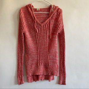 Coral pink Roxy hoodie sweater size large